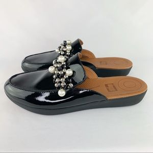 FitFlop Serene Deco Black Patent Leather Sz 9